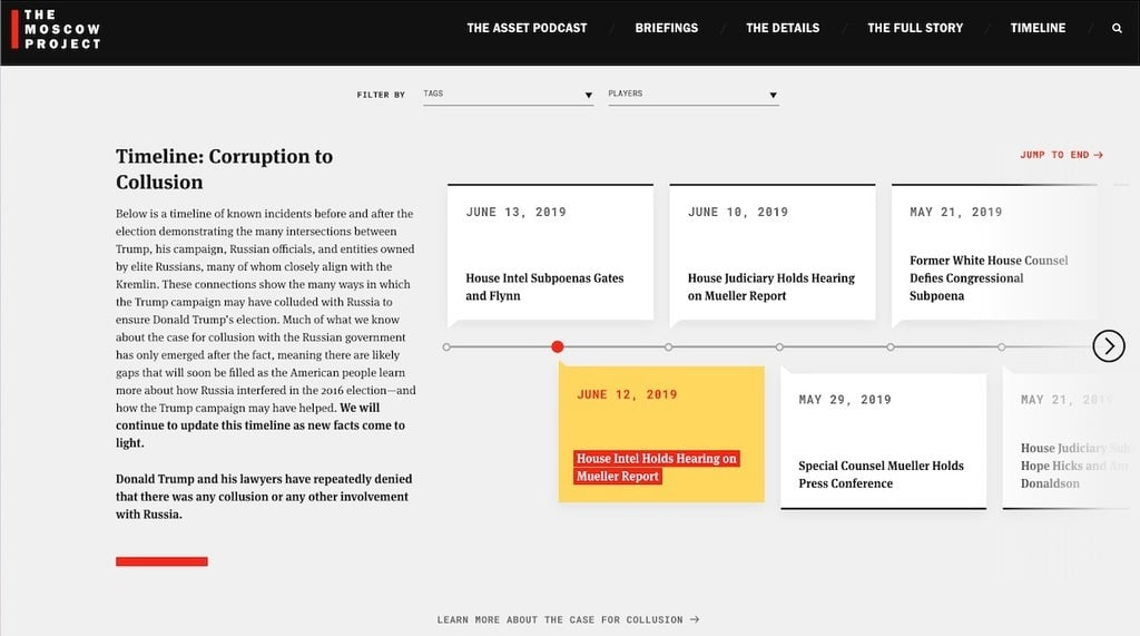 Trump Facts - Timeline - Corruption to Collusion - The Moscow Project