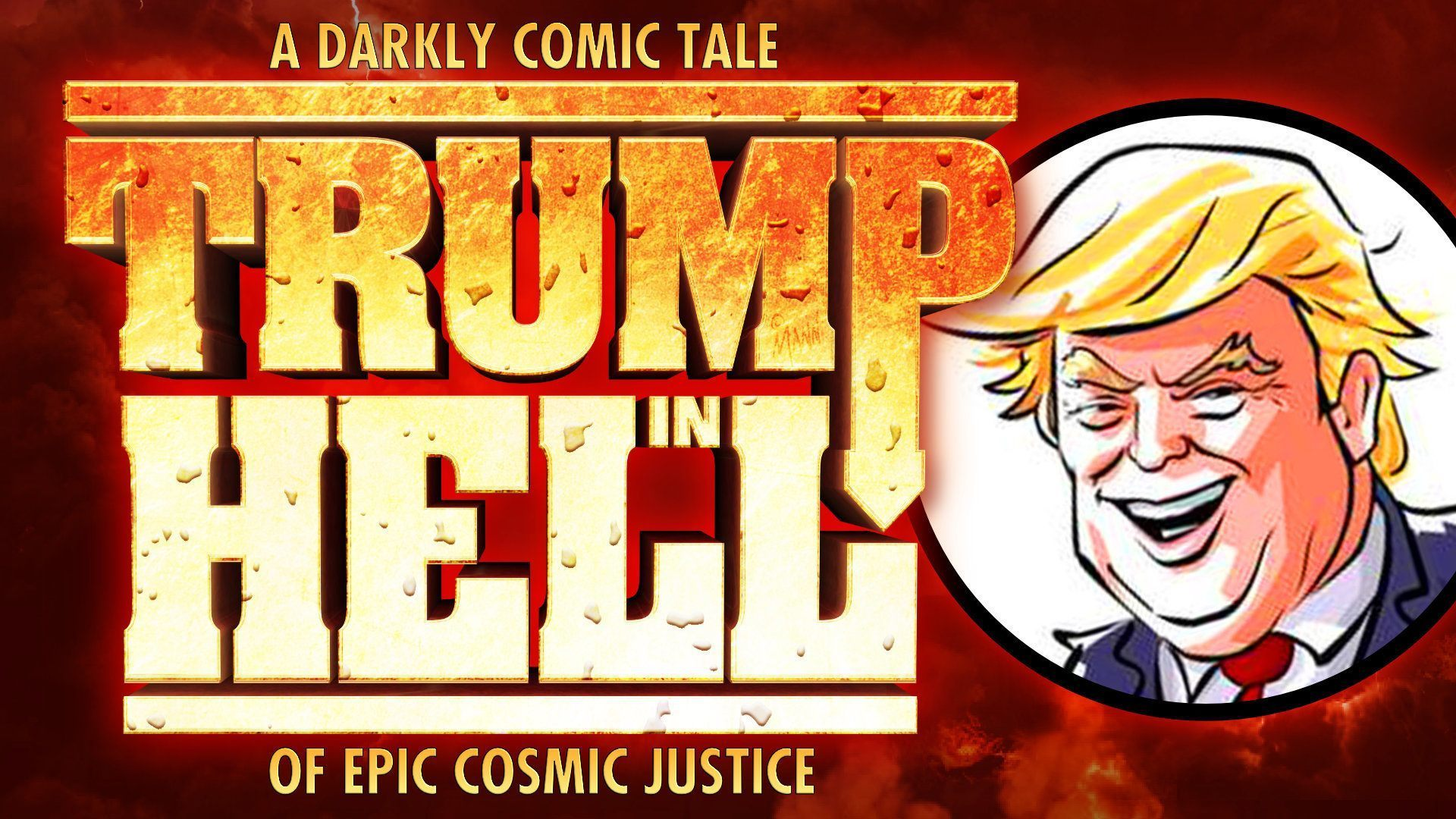 Cover image for TRUMP IN HELL video.
