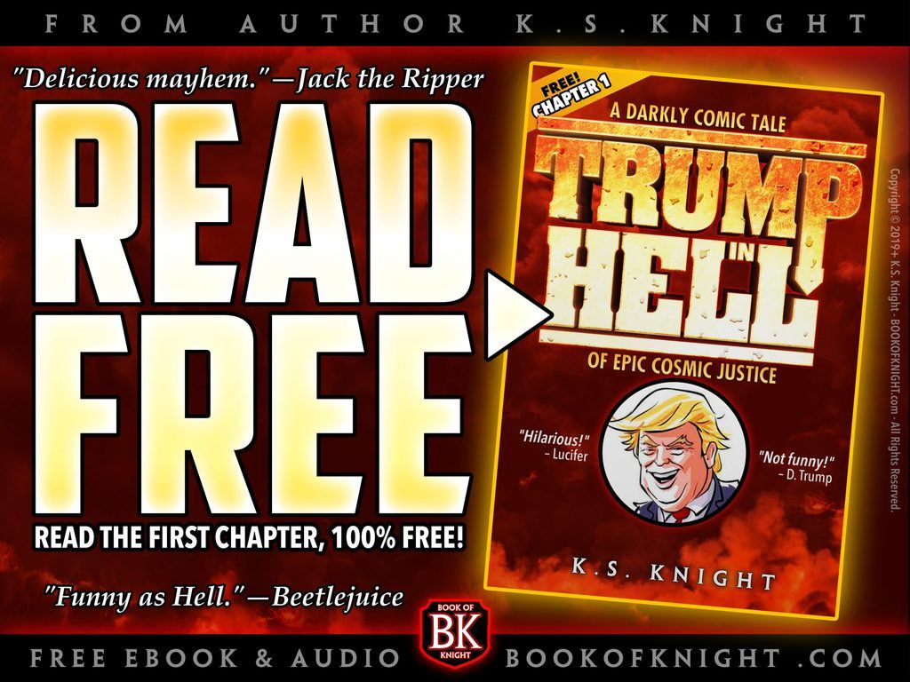 Promo for FREE Chapter 1 of TRUMP IN HELL